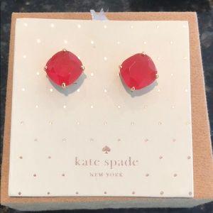 Never worn Kate Spade pink tone earrings